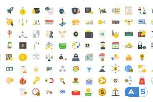 Videohive 100 Crypto Currency Icons 33160216