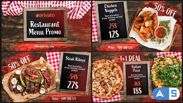 Videohive BBQ Menu – Restaurant Promo 33124422