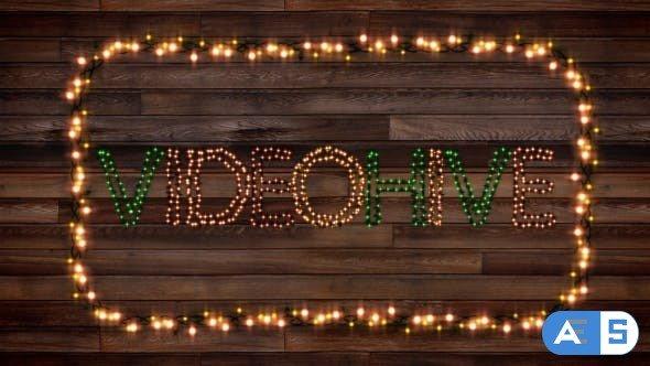 Videohive Christmas Lights Letters V2.0 13414658