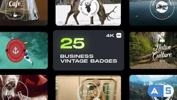 Videohive Business Vintage Badges 32970382