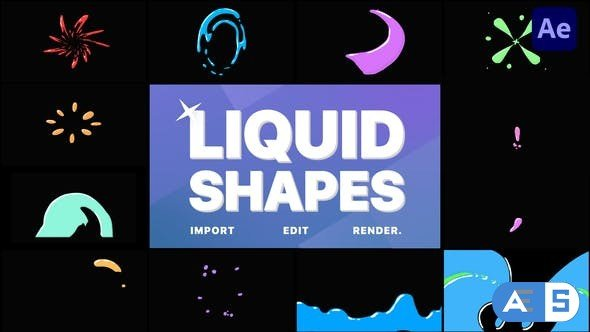 Videohive Liquid Shapes | After Effects 32857129