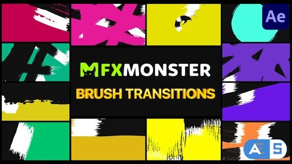 Videohive Brush Transitions | After Effects 33110718
