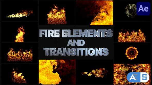 Videohive VFX Fire Elements And Transitions   After Effects 33240340