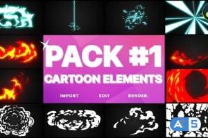 Videohive Flash FX Elements Pack 01 | DaVinci Resolve 33074615