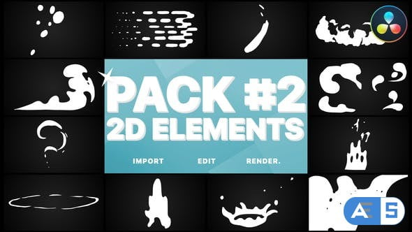 Videohive Flash FX Elements Pack 02 | DaVinci Resolve 33077299