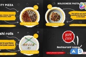 Videohive Food Menu Slideshow | FCPX 33152678
