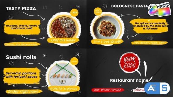 Videohive Food Menu Slideshow   FCPX 33152678