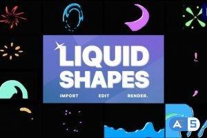 Videohive Liquid Shapes | Premiere Pro MOGRT 32857171