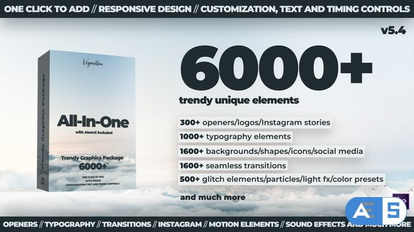 Videohive 6000+ Graphics Pack V5.4 24321544