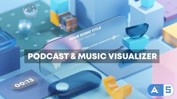Videohive Podcast and Music Visual Techno Geometry 3D 33091975