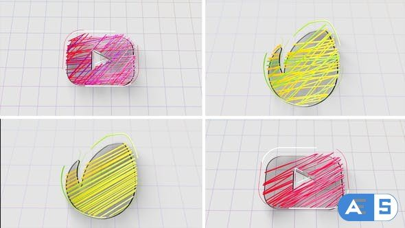 Videohive Lines Logo Reveal 28761669