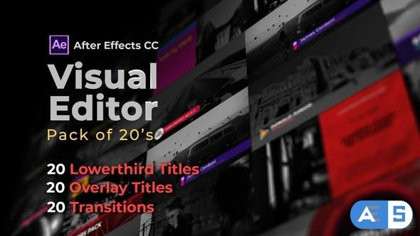 Videohive Visual Editor Pack Of 20s   After Effects Version 32501062