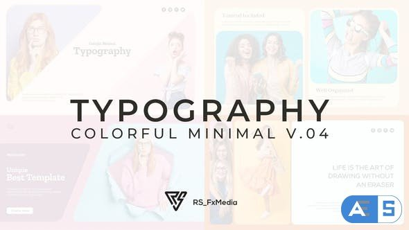 Videohive Typography Slide – Colorful Minimal V.04 33107223