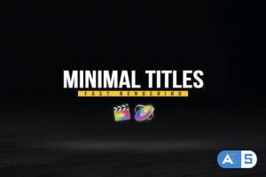 Videohive Minimal Titles Pack 33124856