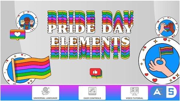 Videohive Pride Day Elements 32259440