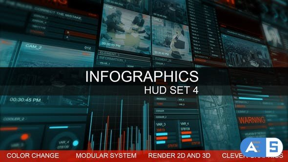 Videohive Infographics HUD smart graphics 22651875