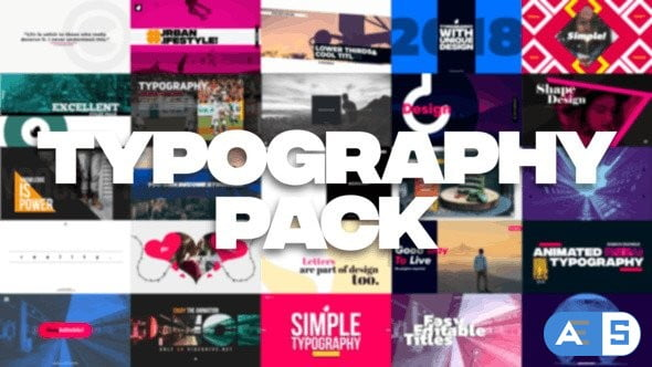 Videohive 35 Typography Pack 21850780