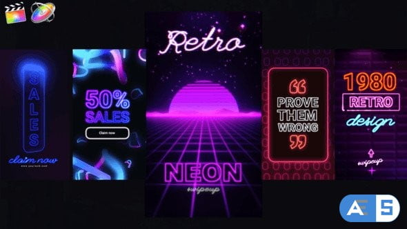 Videohive Neon Instagram Stories 33174016