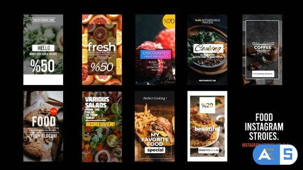 Videohive Food Istagram Stories 33152977