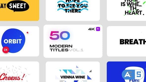 Videohive Modern Titles Vol.1 for Premiere Pro 33018413