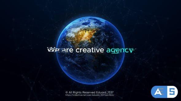 Videohive Artistic Earth Intro 31370088
