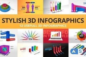 Videohive Stylish 3D Infographics 24239322