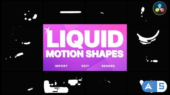Videohive – Liquid Motion Shapes | DaVinci Resolve – 33378580