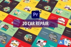 Videohive – Car Repair Animation | Premiere Pro MOGRT – 33373137