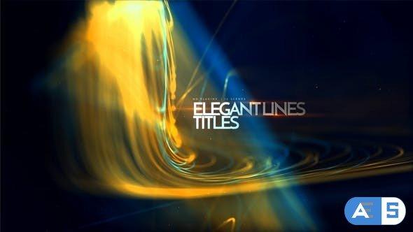 Videohive Elegant Lines Titles 23523255