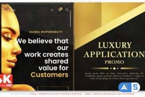 Videohive Golden Lux App Promo 33448584