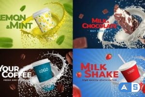 Videohive Coffee, Soda, Milkshake, Any Food MOGRT 33410002