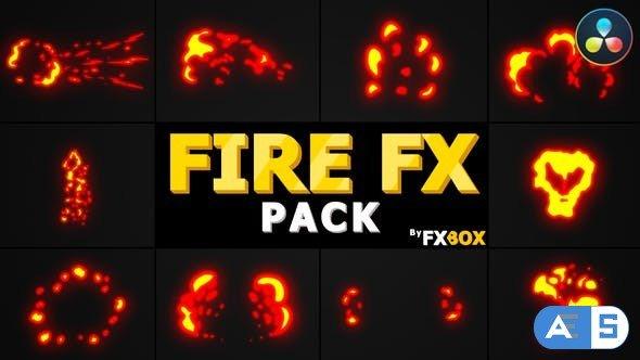Videohive Fire Elements Pack | DaVinci Resolve 33527548