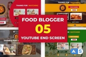 Videohive Food Channel Youtube End Screen 33342409