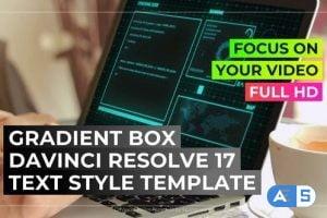 Videohive Text Gradient Box 33550177