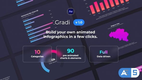 Videohive Gradi – Gradient Infographics 32098103