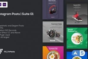 Videohive Instagram Posts | Suite 01 | MOGRT 33431223