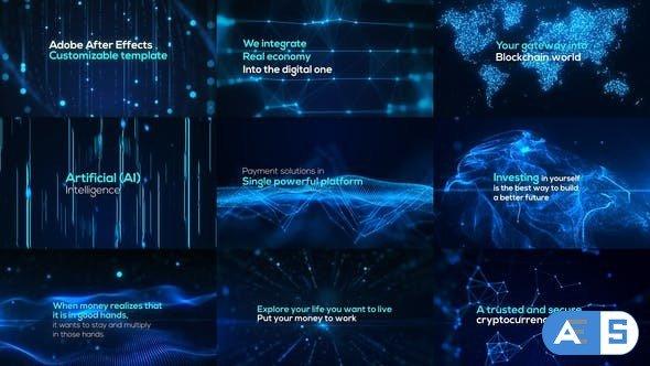 Videohive Digital Particle World | Form & Plexus 33389780