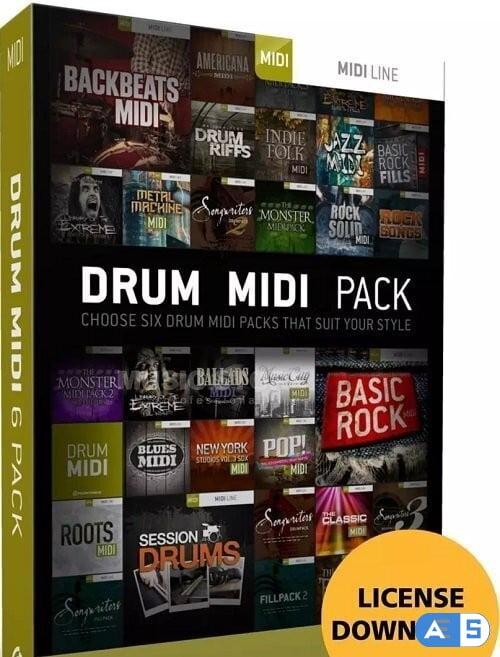 Toontrack Drums MIDI Pack v11.08.2021