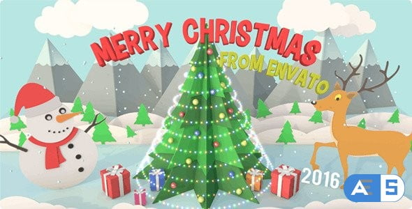 Videohive Christmas Pop Up Card 14020447