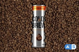 Videohive Cold Coffee Can Packaging Mockup 33590869