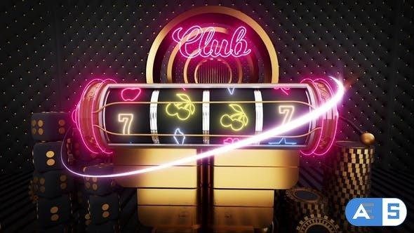 Videohive Slot Machine Logo Reveal 33397899