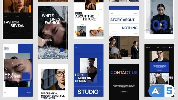 Videohive Website Promo Stories Pack 33930633