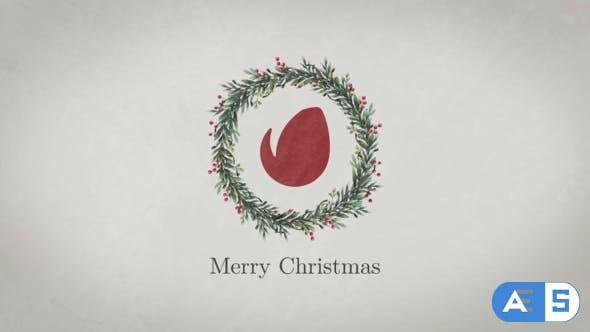 Videohive Christmas Wreath Logo 22991247