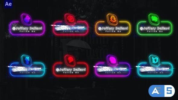 Videohive Neon Social Media Lowerthirds 33670188