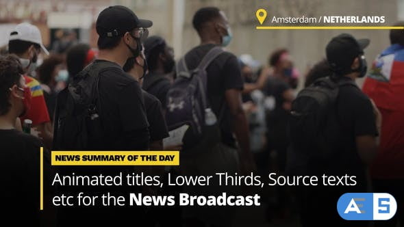 Videohive News Titles – Animated Titles and Lower Thirds for Broadcast News 33785533