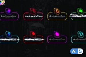Videohive – Neon Social Media Lowerthirds – 33670543