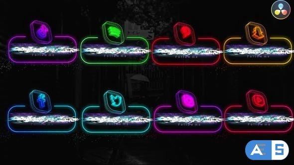 Videohive – Neon Social Media Lowerthirds – 33670127