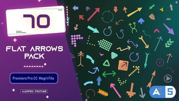 Videohive – Flat Arrows MOGRT Pack – 33663487