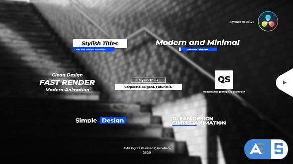 Videohive – Stylish and Minimal Titles Pack For DaVinci Resolve – 33660014
