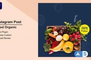 Videohive – Food Organic Instagram Post Mogrt 10 – 33693424